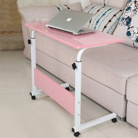 Height Adjustable Portable Tyre Base Laptop Table - Pink