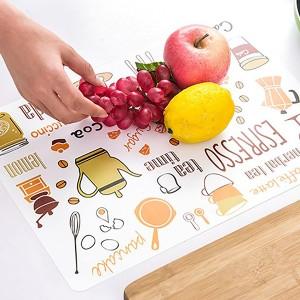 Digital Printed Dining Table Protector Mat - Orange
