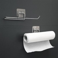 Easy Wall Adhesive Multi Purpose Tissue Roll Wall Hanger - Silver