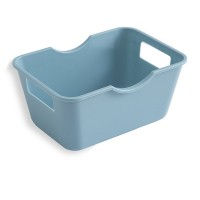 Easy Carry Table Organizer Open Boxed Storage - Light Blue