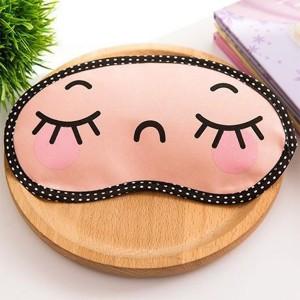 Printed Cute Eye Relaxing Creative Sleep Mask - Light Pink