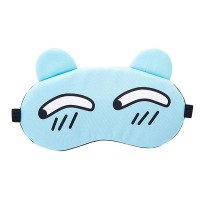 Printed Cute Eye Relaxing Creative Sleep Mask - Sky Blue