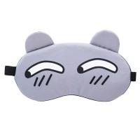 Printed Cute Eye Relaxing Creative Sleep Mask - Gray