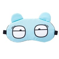 Printed Cute Eye Relaxing Creative Sleep Mask - Light Blue