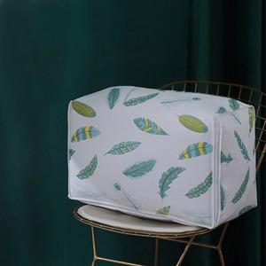 Leaves Printed Zipper Closure Blanket Storage Bags