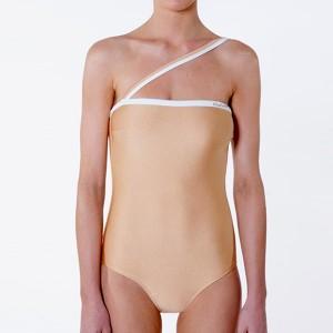 Slim Sexy Wear Women Fashion Bodysuit - Apricot
