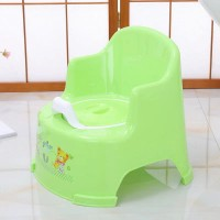 Chair Shaped High Quality Plastic Kids Potty Seat Chair - Green
