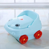 Fun Car Shaped High Quality Plastic Kids Potty Seat Chair - Blue