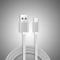Android Phones Braided Fast and Quick USB Charging Cable To Type C - Silver