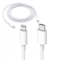 iPhone PVC Coated Fast and Quick USB Type C Lightning Cable - White