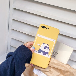 Highly Protective Anti Damage or Scratch Bear Printed iPhone Series Case Cover - Yellow