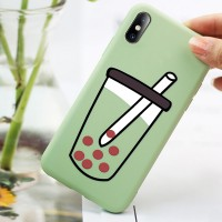 Anti Scratch Creative Printed Design iPhone Series Case Cover - Light Green