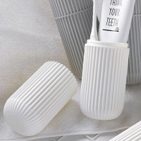 Traveller Easy Carry Tooth Brush And Paste Protector Storage Box - White