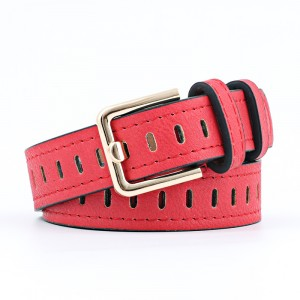 Ladies Fashion Casual Wide Belt - Red
