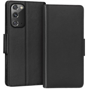 Leather Texture PU Foldable Samsung S and A Series Protector Case Cover - Black