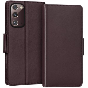 Leather Texture PU Foldable Samsung S and A Series Protector Case Cover - Brown