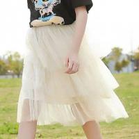 Outdoor Girls Special Occasion Net Frilled Bottom Skirt - Beige
