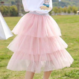 Outdoor Girls Special Occasion Net Frilled Bottom Skirt - Pink
