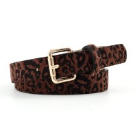 Girls Fashion Leopard Spotted Decorative Belt - Coffee