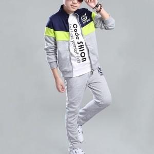 Smart Kids Zipper Unisex Two Piece Matching Sets - Gray