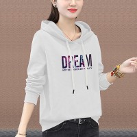Full Sleeves Winter Hoodie Casual Wear Top - White Multicolor