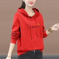 Full Sleeves Winter Hoodie Casual Wear Top - Rose Red
