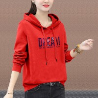 Full Sleeves Winter Hoodie Casual Wear Top - Red