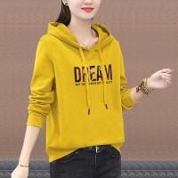 Full Sleeves Winter Hoodie Casual Wear Top - Light Ochre Yellow