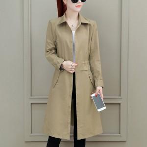 Shirt Collar Button Up Winter Special Outwear Long Coat - Khaki