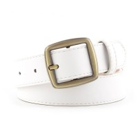 Girls Casual Simple Popular Jeans Belt - White