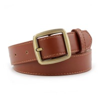Girls Casual Simple Popular Jeans Belt - Light Brown