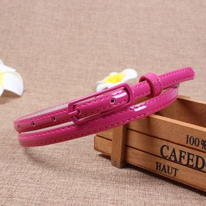 Youth Girl Candy Color Sweet Wild Thin Belt - Rose