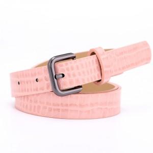 Fashion Lizard Pattern Pin Buckle Decorated Belt - Pink