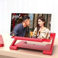 12 Inch Portable HD Enlarged Mobile Magnifier Projector Screen - Red