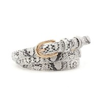 Girl Snakeskin Fashion Wild Belt - Black And White