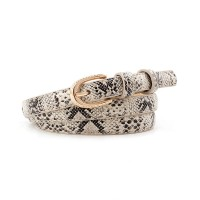 Girl Snakeskin Fashion Wild Belt - Beige
