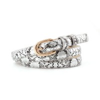 Girl Snakeskin Fashion Wild Belt - Silver