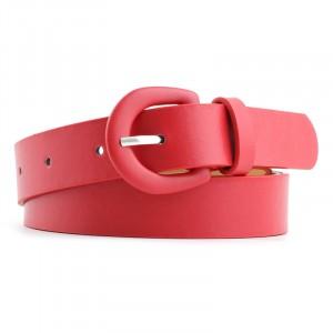 Women Elegant Trench Coat Belt - Red