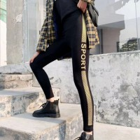 Sports Pants Printed Flower Multi Purpose Bottom Trousers - Yellow Contrast