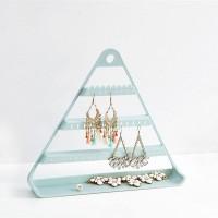 Triangle Three Layered Creative Design Bedroom Storage Jewellery Storage Rack - Blue