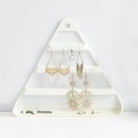 Triangle Three Layered Creative Design Bedroom Storage Jewellery Storage Rack - White