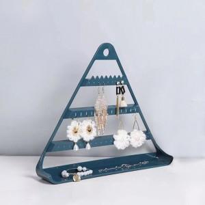 Triangle Three Layered Creative Design Bedroom Storage Jewellery Storage Rack - Dark Green