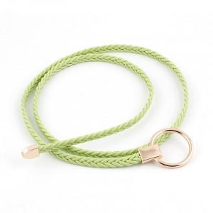 Girl Matching Braided Thin Belt - Green