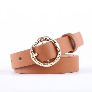 Fashion Decorative Woman Thin Belt - Light Brown