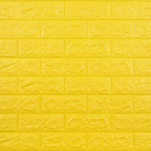3D Textured Brick Home Decorative Easy Wall Adhesive Stickers - Light Yellow