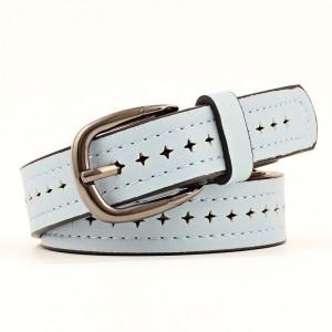 Fashion Wild Alloy Pin Buckle Ladies Belt - Sky Blue