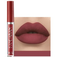 Girls Matte Waterproof Matte Liquid Lipstick - Dark Red