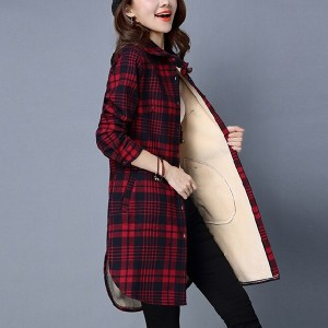 Geometric Printed Button Up Outwear Jacket - Red