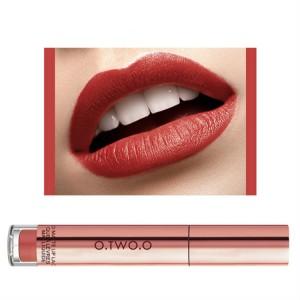 Ladies Fashion Long Lasting Matte Liquid Lip Gloss - Coral Red