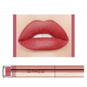Ladies Fashion Long Lasting Matte Liquid Lip Gloss - Berry Red
